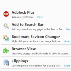 All Time Top Firefox Internet Browser Addons